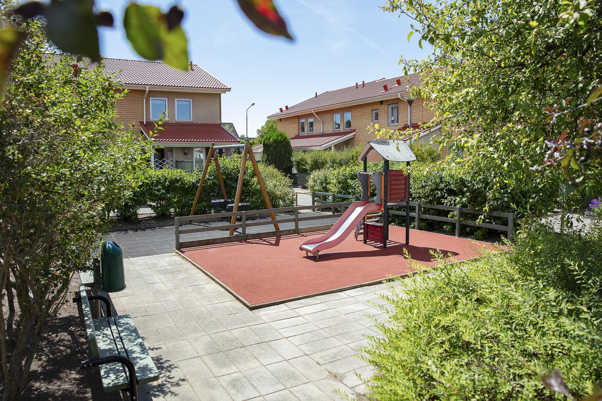 Här finns lekplats åt barnen