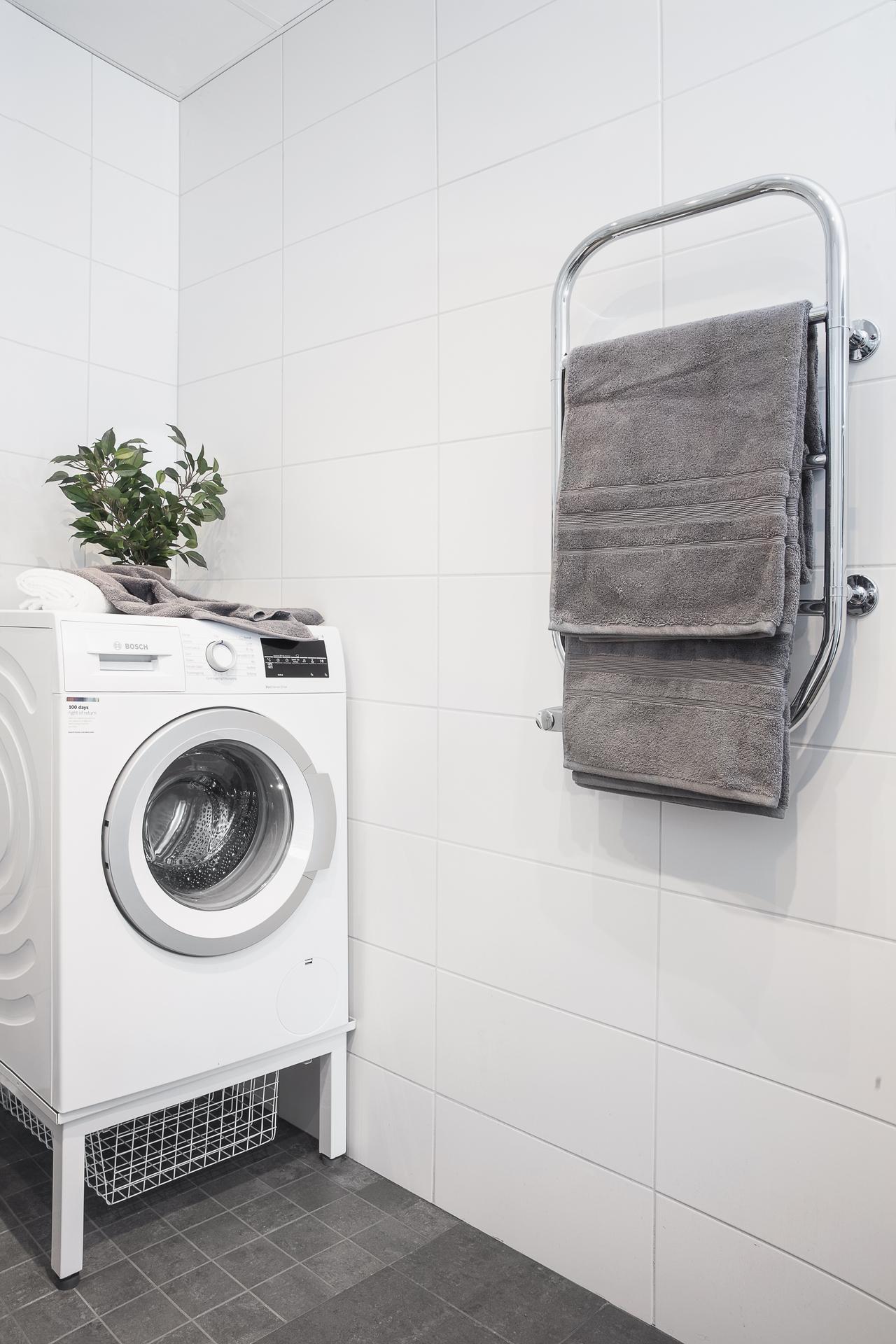 Samt avdelning med tvättmaskin
