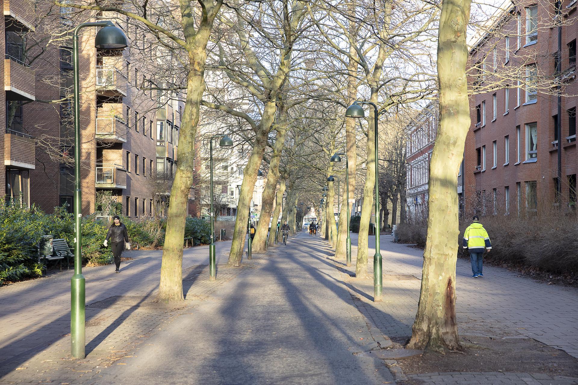 Gång- och cykelväg på Kaptensgatan