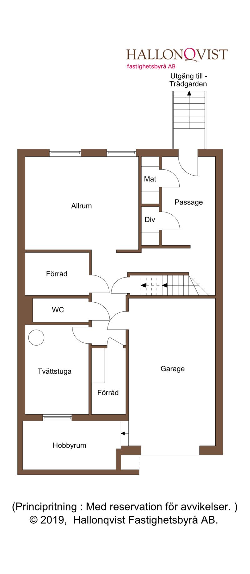 Planritning - källarvåning