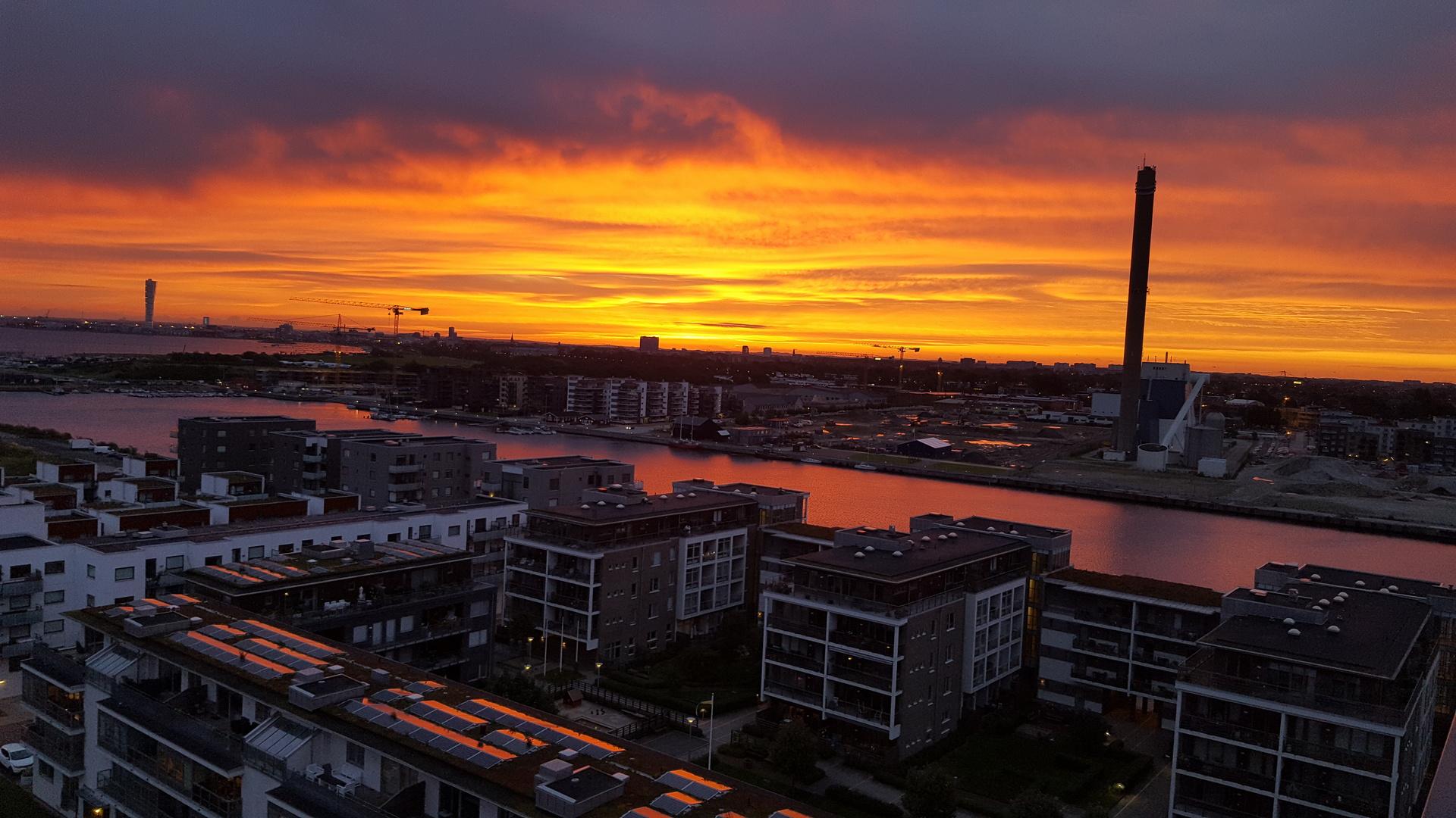 Säljarens arkivbild - mäktig utsikt vid soluppgången