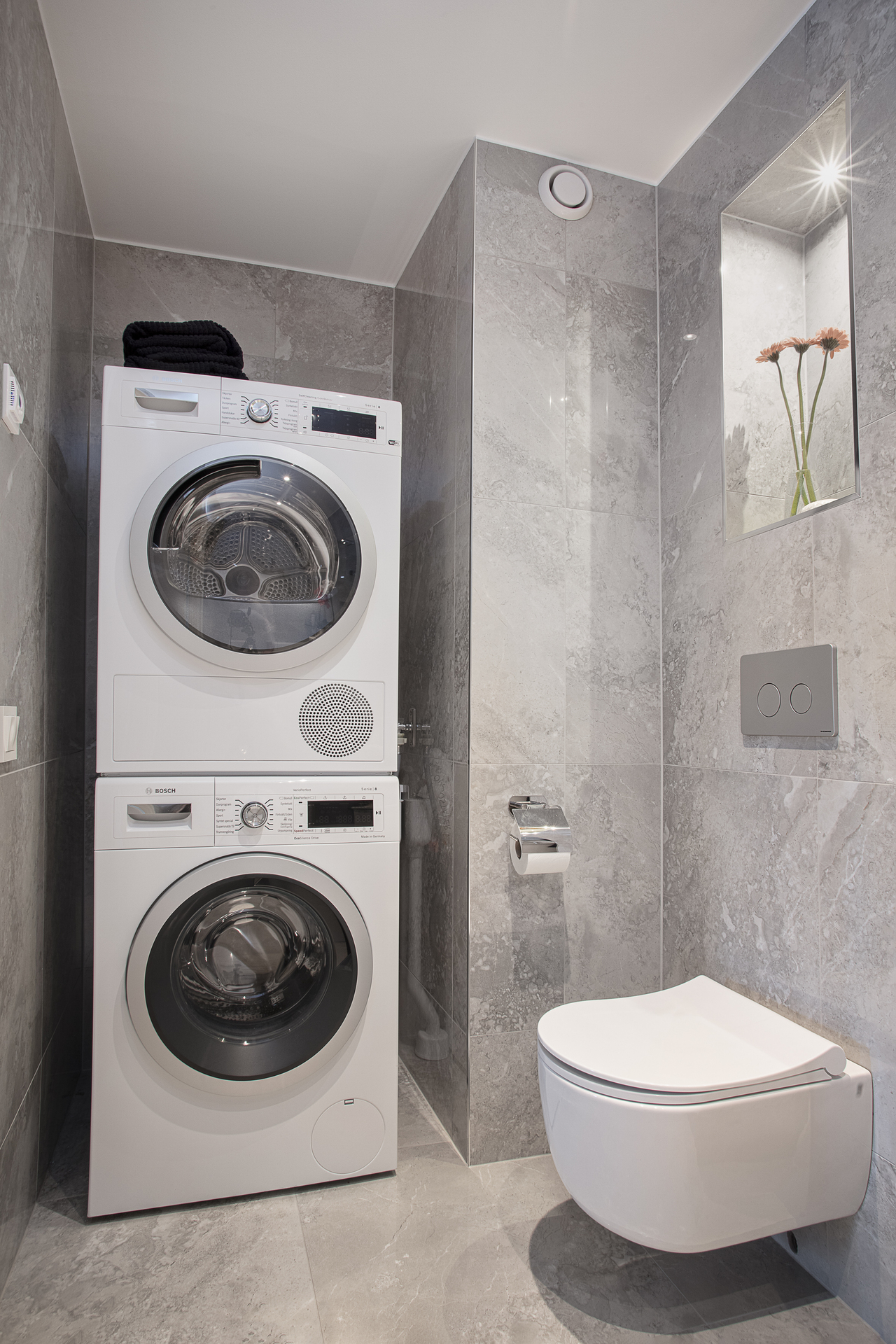 ... samt separat tvättavdelning