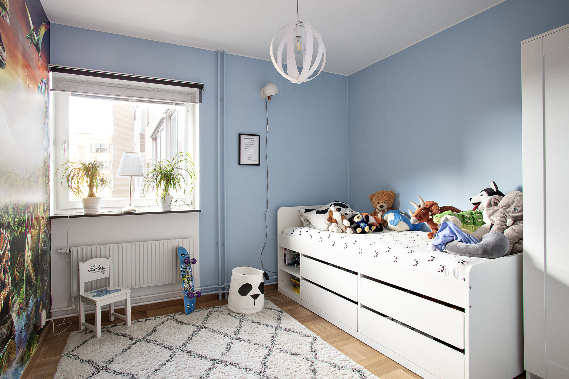 Sovrum 2, vilket i dagsläget verkar som barnrum